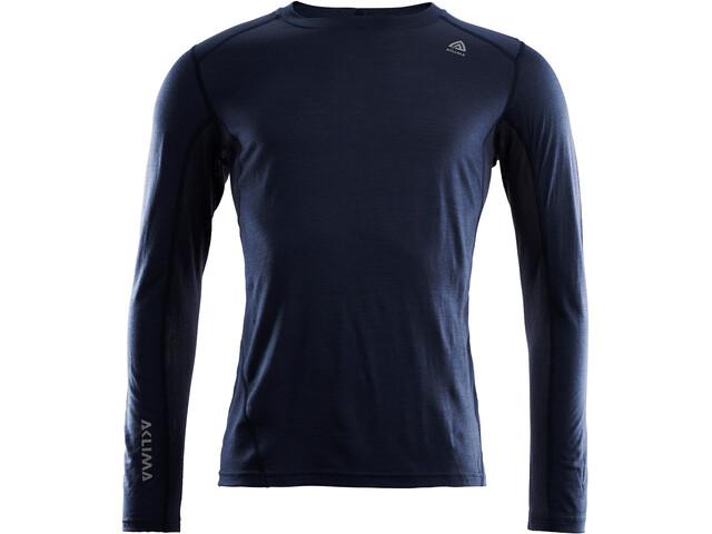 Aclima LightWool Camiseta Deportiva Manga Larga Hombre, azul